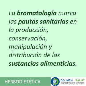 La bromatología marca las pautas sanitarias de producción conservación manipulación y distribución de alimentos